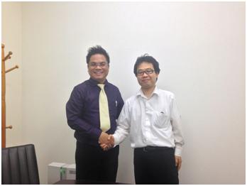 Luật sư Nguyễn Thanh Hà với nhà đầu tư nước ngoài