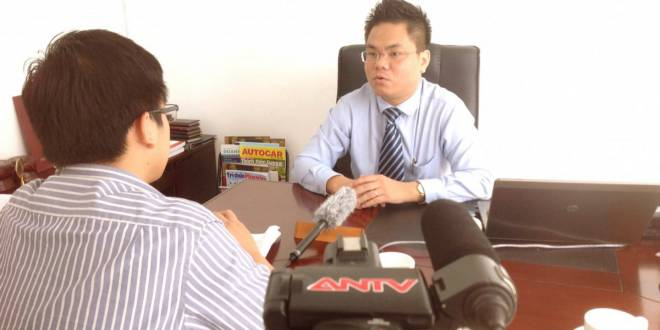 luật sư Hà trả lời phỏng vấn ANTV
