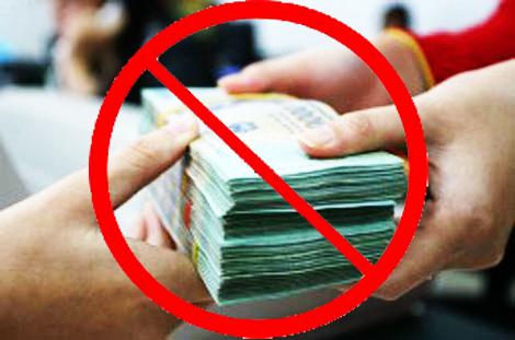 Không được sử dụng tiền mặt