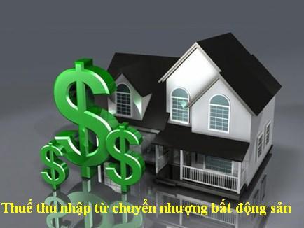 Thuế thu nhập cá nhân từ chuyển nhượng bất động sản
