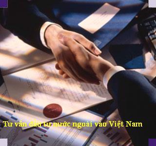 Luật sư tư vấn đầu tư nước ngoài vào Việt Nam