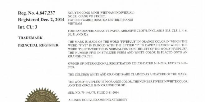 tư vấn doanh nhân Việt Nam bảo hộ thương hiệu tại Hoa Kỳ 002