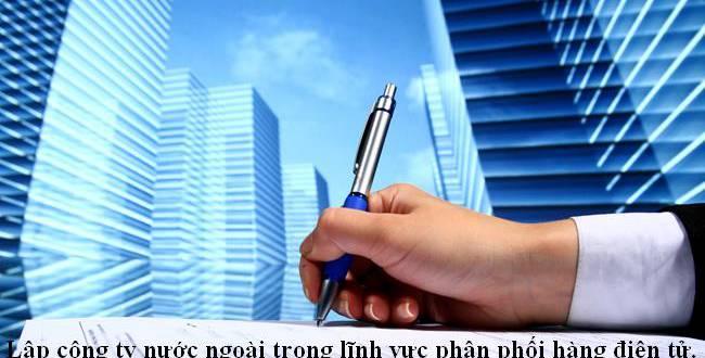 Lập công ty nước ngoài trong lĩnh vực phân phối hàng điện tử.