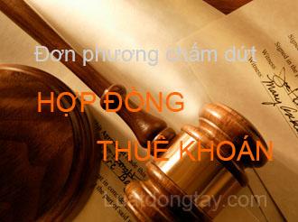 don phuong cham dut hop dong thue khoan