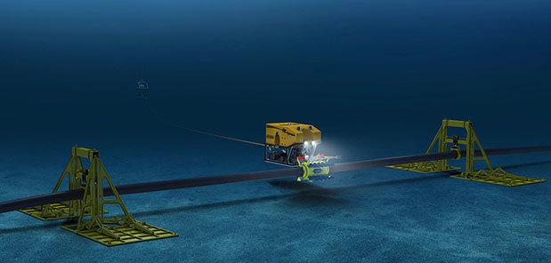 Robot sửa chữa cáp quang biển – Nguồn: Oceaneering